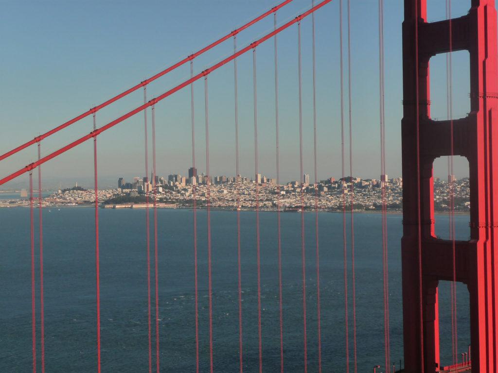 Blick von der Conzelman Road (Battery Spencer) auf San Francisco