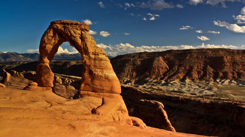 Sonnenuntergang am Delicate Arch