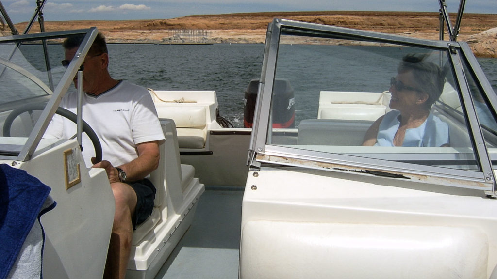 Entspannte Bootstour auf dem Lake Powell vor dem Unfall