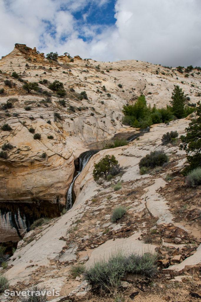 Ziel erreicht: Upper Calf Creek Fall