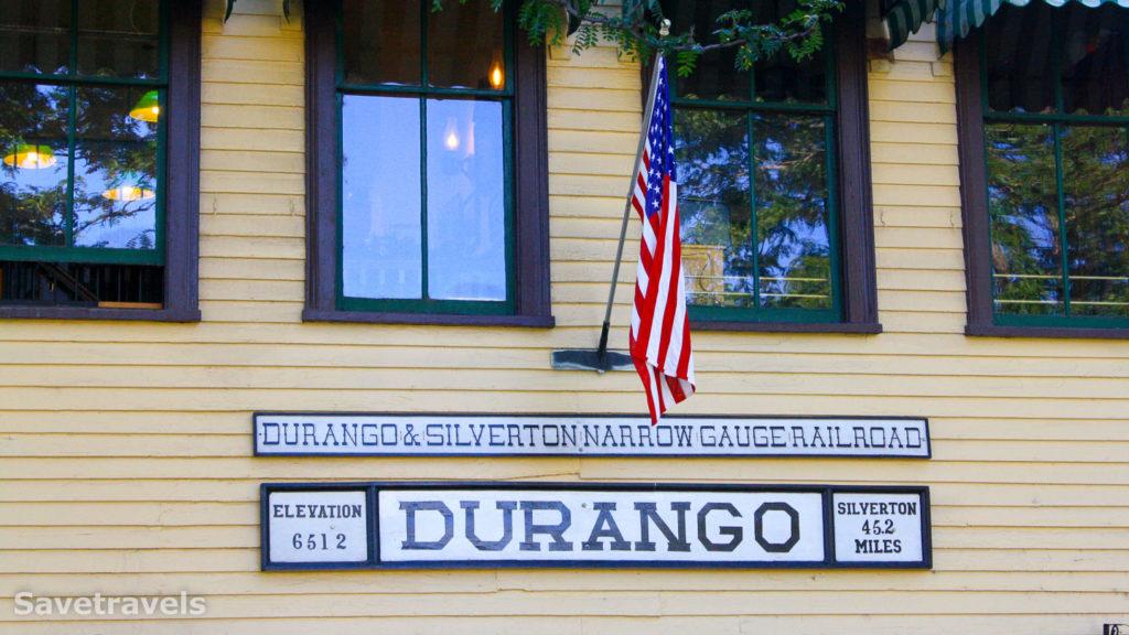 Der kleine Bahnhof in Durango