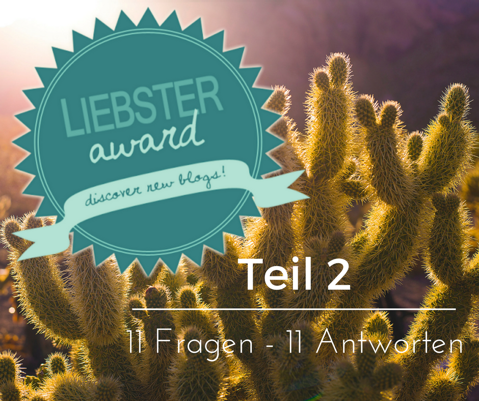 Liebster Award Teil 2