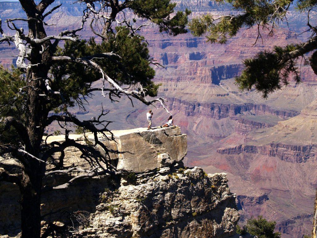 Das letzte Foto, bevor sie ein paar hundert Meter tiefer von den Felsen gekratzt werden musste