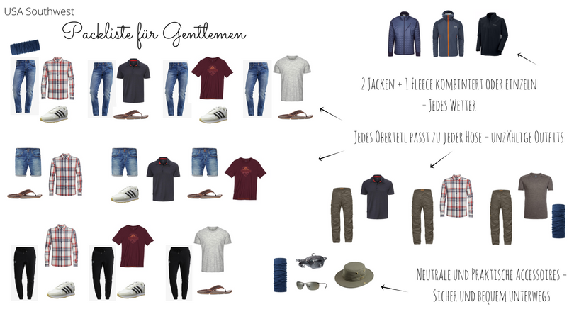 Outfits Packliste Gentlemen FB