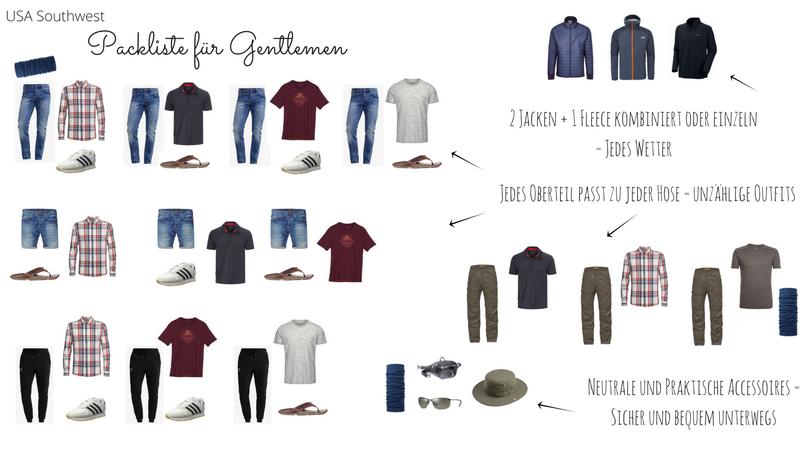 Outfits Packliste Gentlemen FB