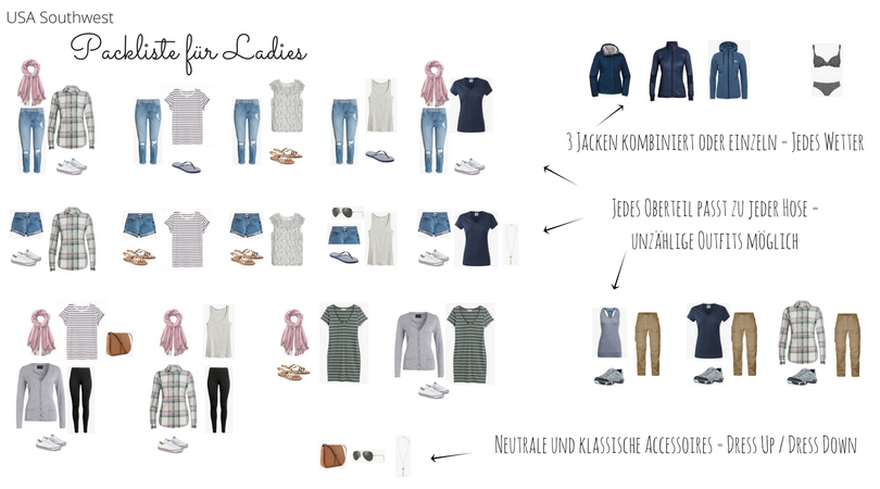 Outfits Packliste Ladies FB