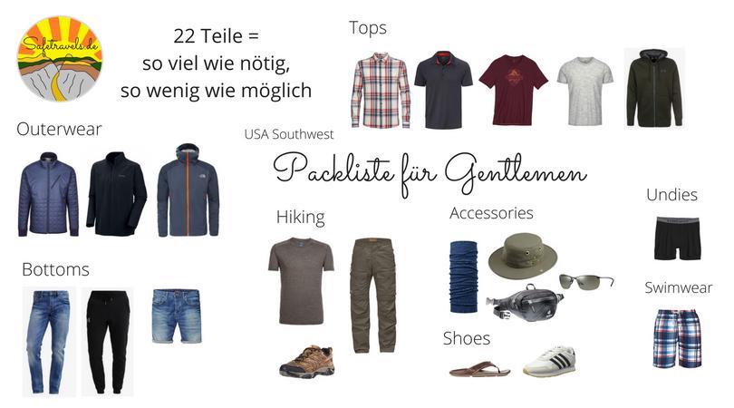 Packliste Männer