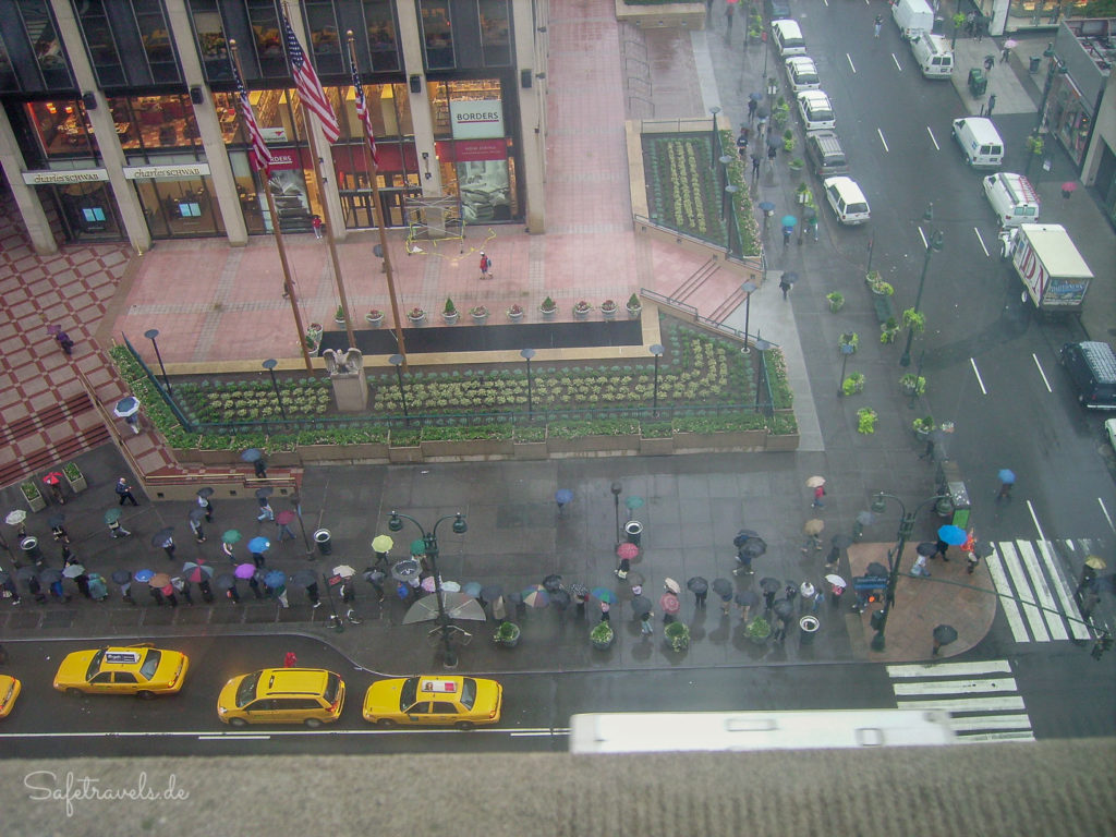 Blick aus dem Hotelzimmer: Regen, Regen, Regen