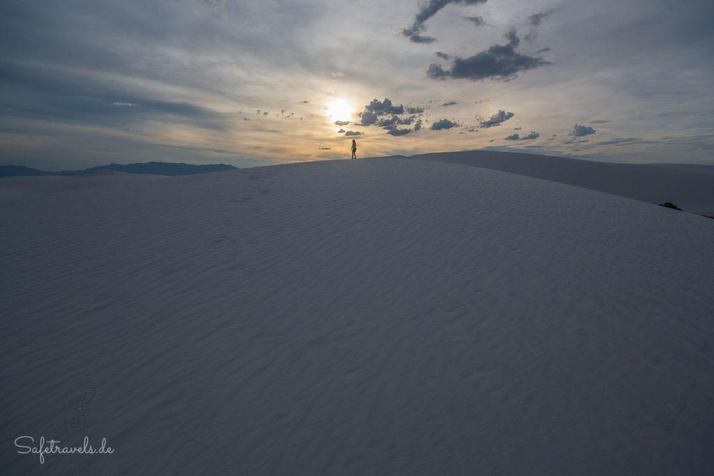 Letzte Sonnenstrahlen in White Sands
