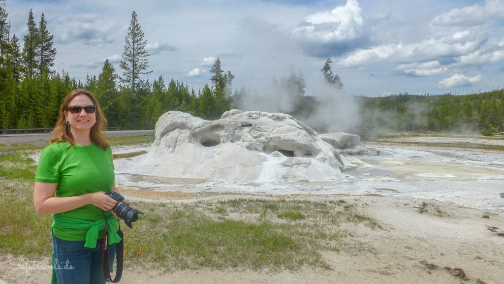 """Das """"Immerdrauf"""" und mein Icebreaker T-Shirt im Einsatz im Yellowstone National Park"""