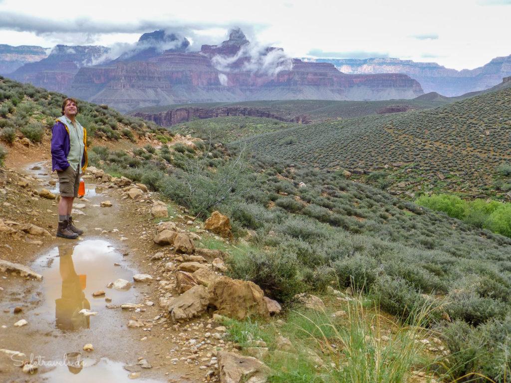 Gewitterstimmung auf dem Plateau Point Trail