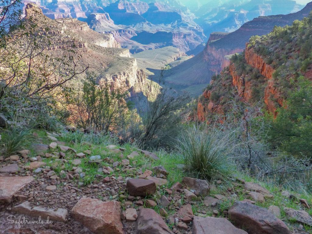 Indian Garden und Plateau Point vom 1,5-Mile-Resthouse