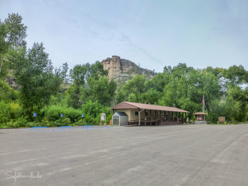 Parkplatz am Trailhead zu den Cliff Dwellings