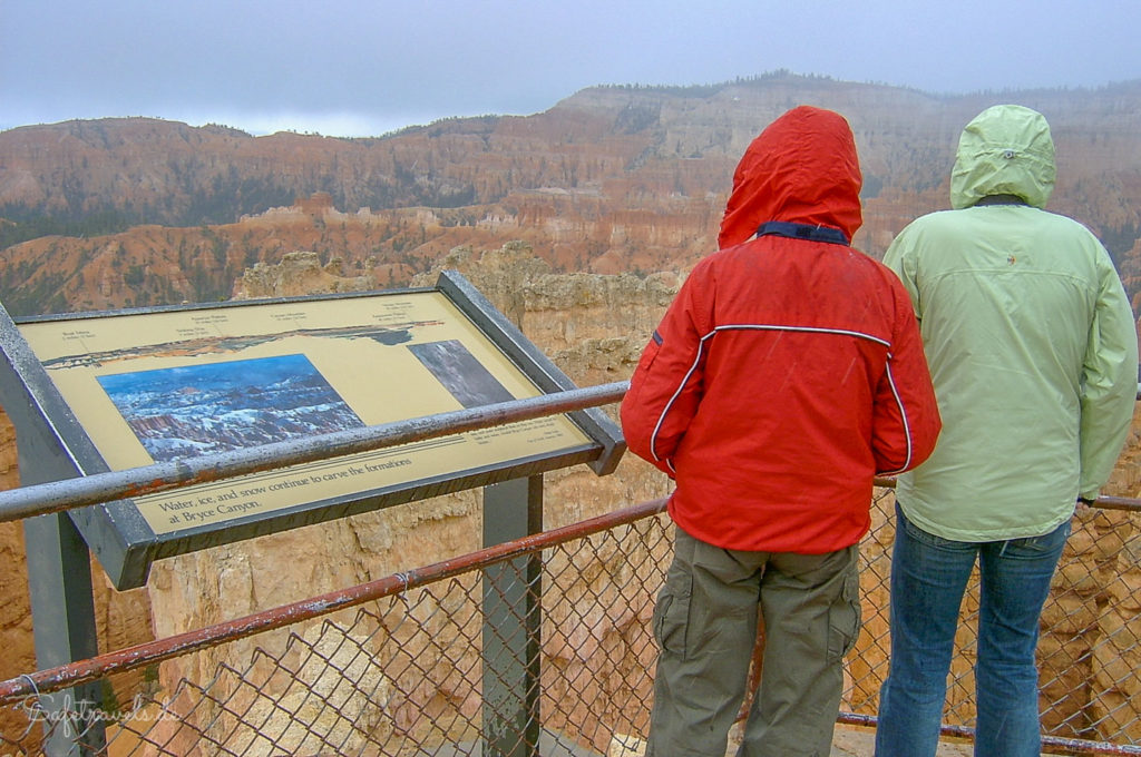 Schnee am Bryce Canyon ist im Mai keine Seltenheit