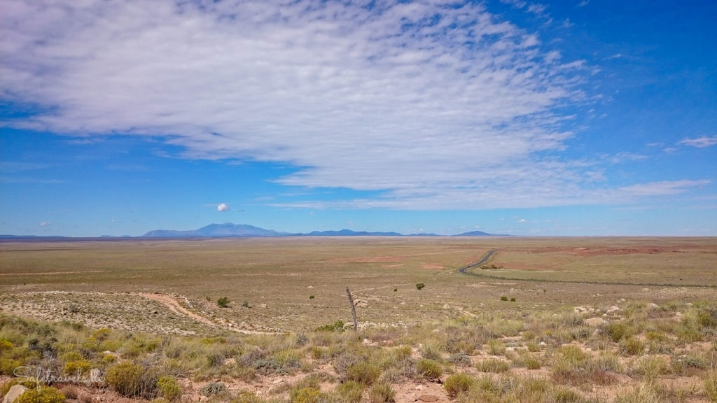 Blick vom Rim Trail Richtung Flagstaff und San Francisco Peaks
