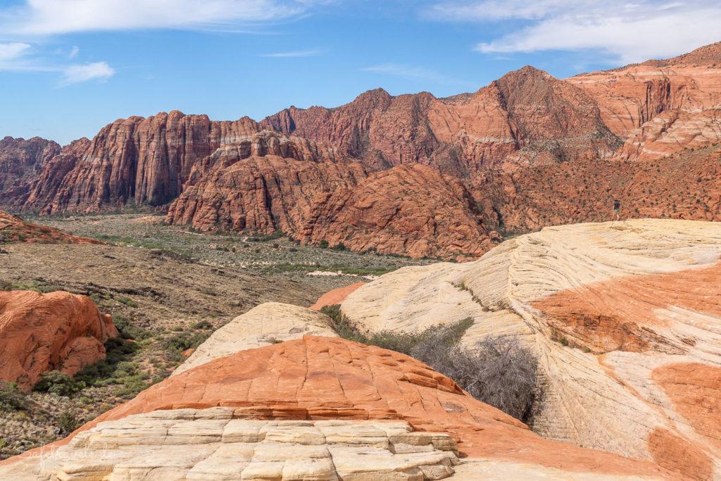 Ausblick von den White Rocks