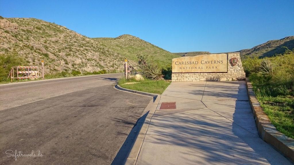 Einfahrt zum National Park