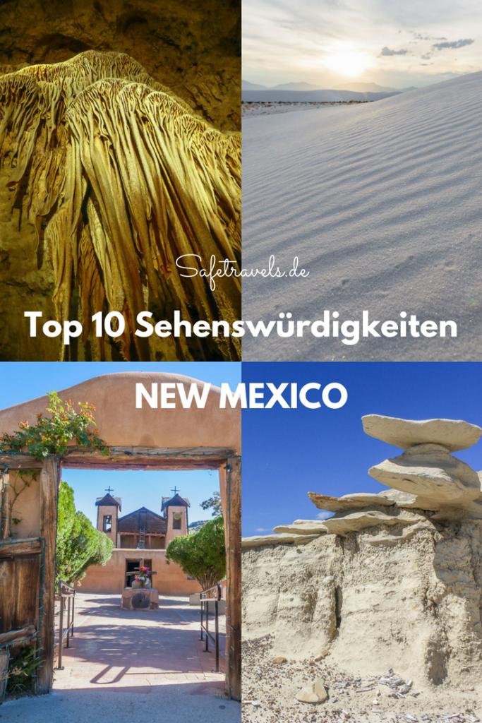 Top 10 Sehenswürdigkeiten New Mexico Pin