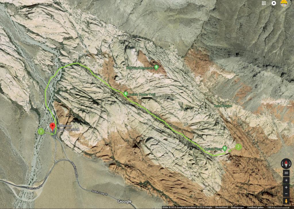 Calico Tanks Trail Karte