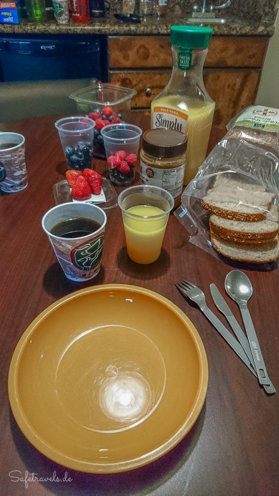 Las Vegas - Frühstück im Tuscany Suites
