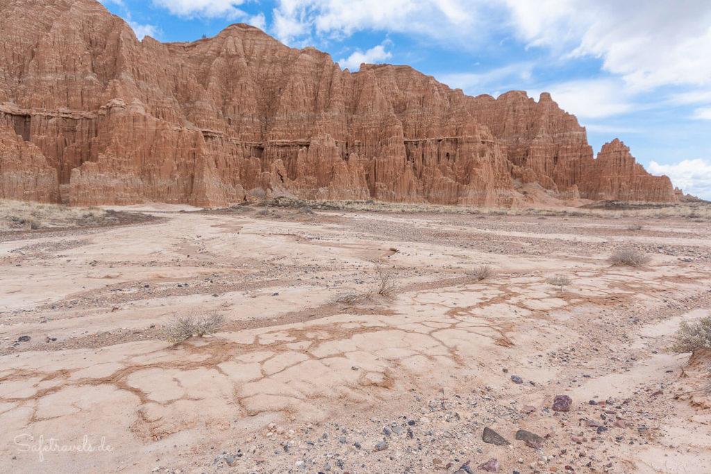 Erosionsspuren im Cathedral Gorge State Park