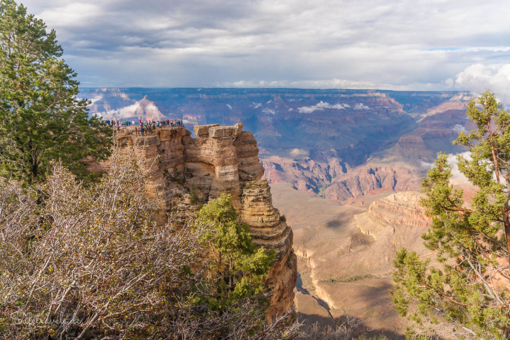 Mather Point vom Rim Trail aus