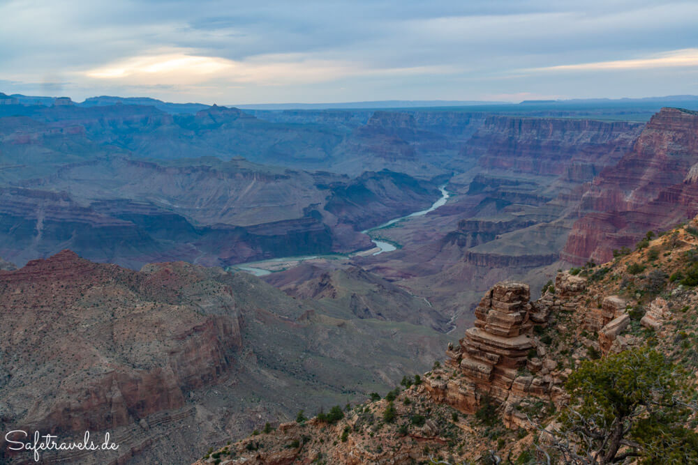Abendstimmung am Desert View im Grand Canyon National Park