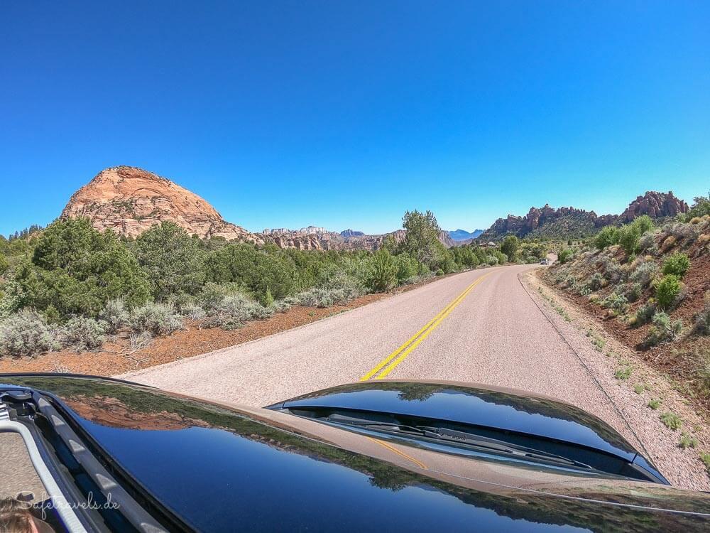 An der Kolob Terrace Road im Zion National Park