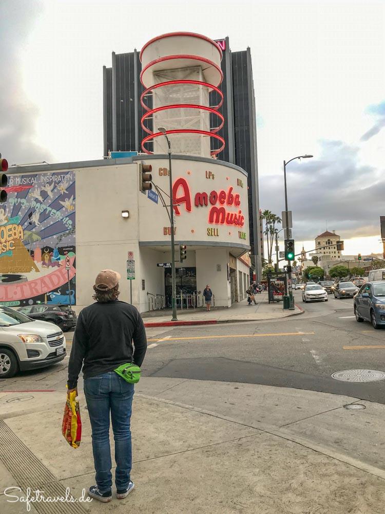 Amoeba Music am Sunset Boulevard in Hollywood