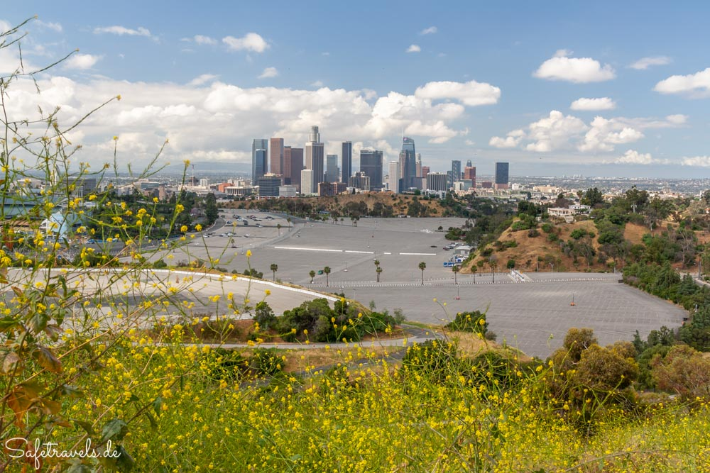Aussicht auf Downtown Los Angeles vom Elysian Park