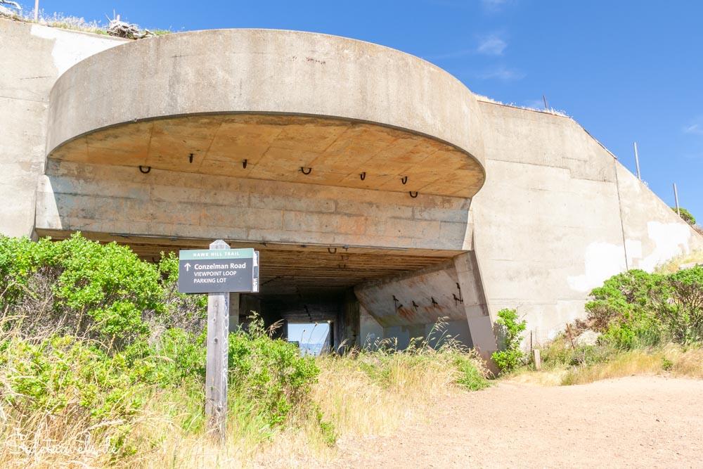 Bunkeranlage am Hawk Hill in den Marin Headlands