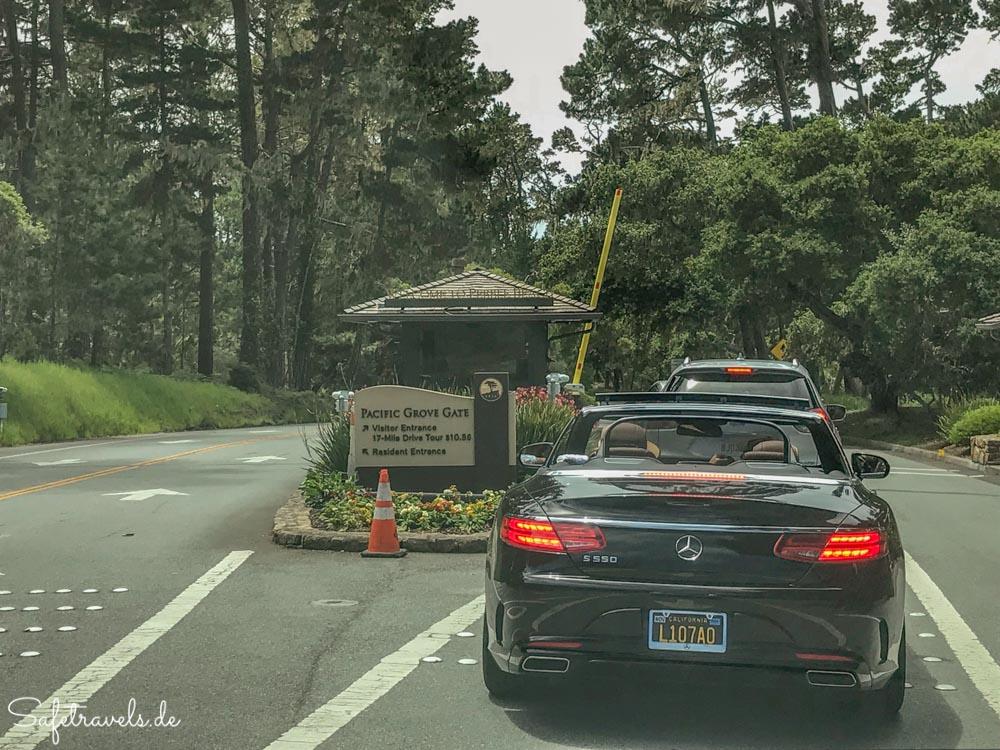 Einfahrt zum 17-Mile Drive