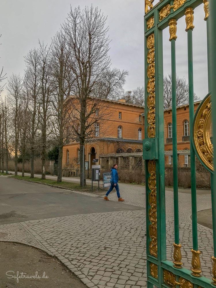 Eingang zum Park Sanssouci in Potsdam
