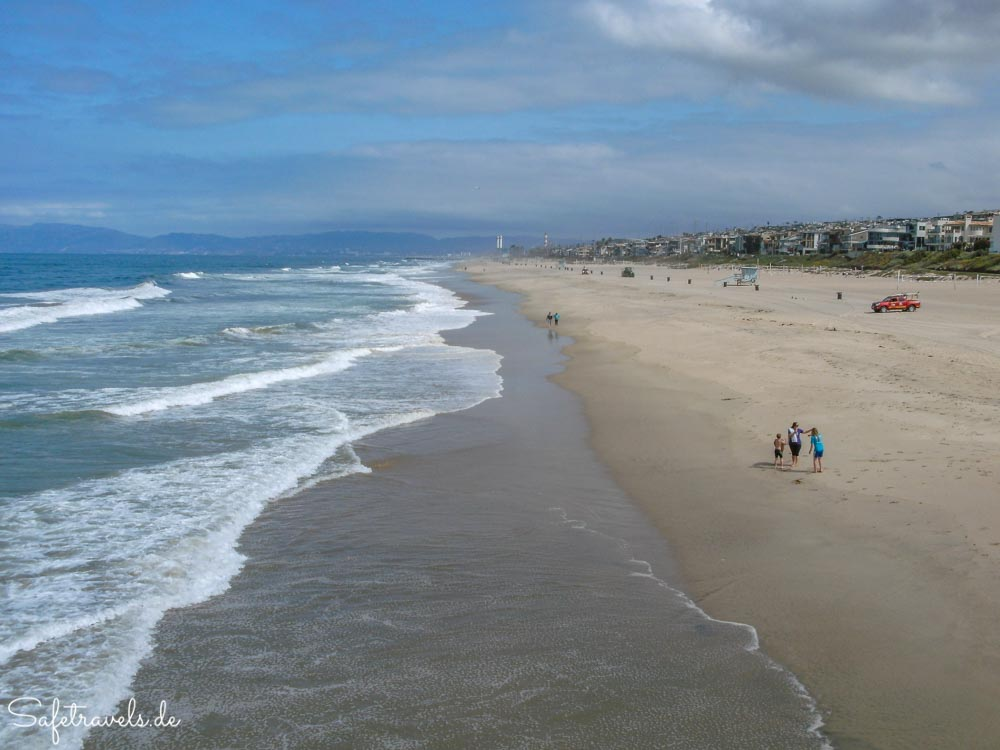 Endlos langer Strand von Manhattan Beach