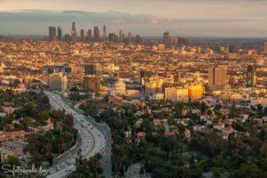 Hollywood - Jerome C. Daniel Overlook am Mulholland Drive