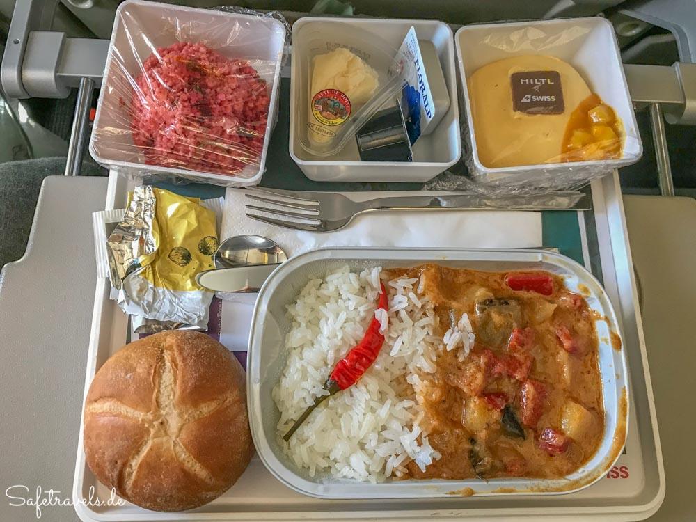 Lunch auf dem Langstreckenflug nach San Francisco