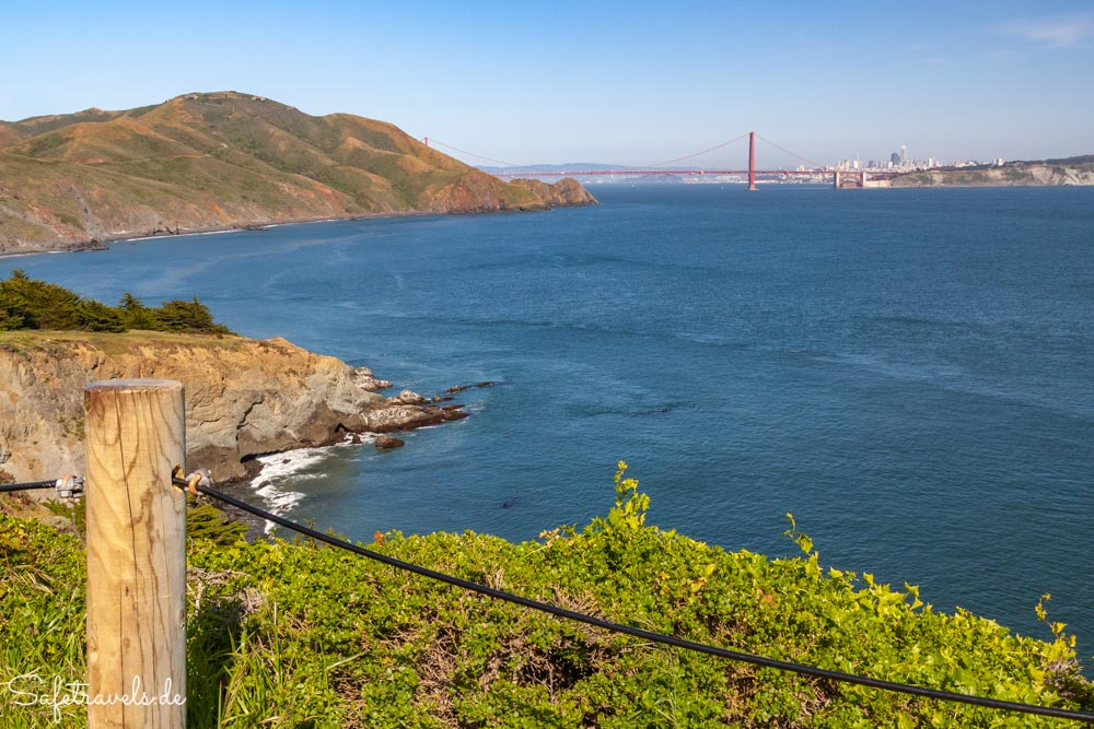 Marin Headlands - Blick auf die Golden Gate Bridge