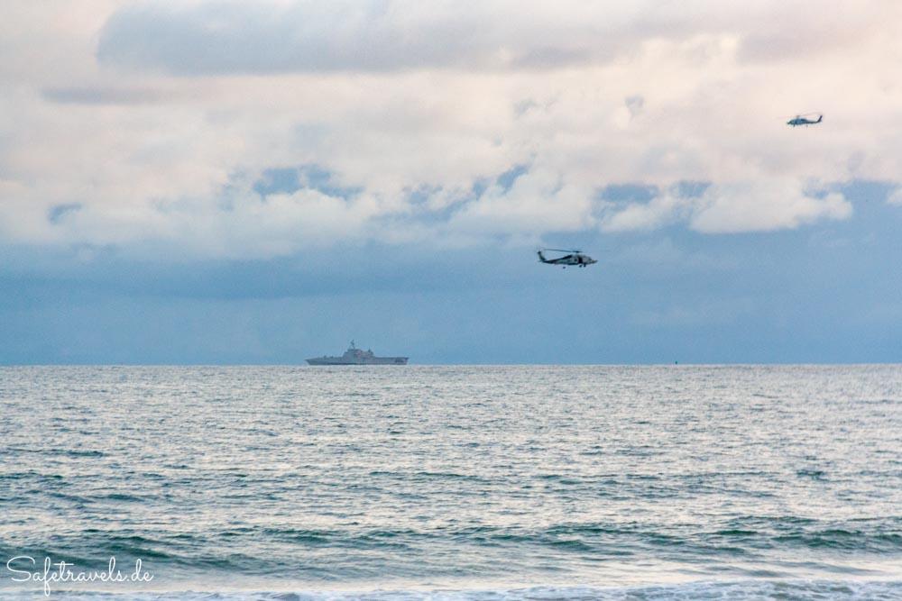 Militärübung vor dem Coronado Beach