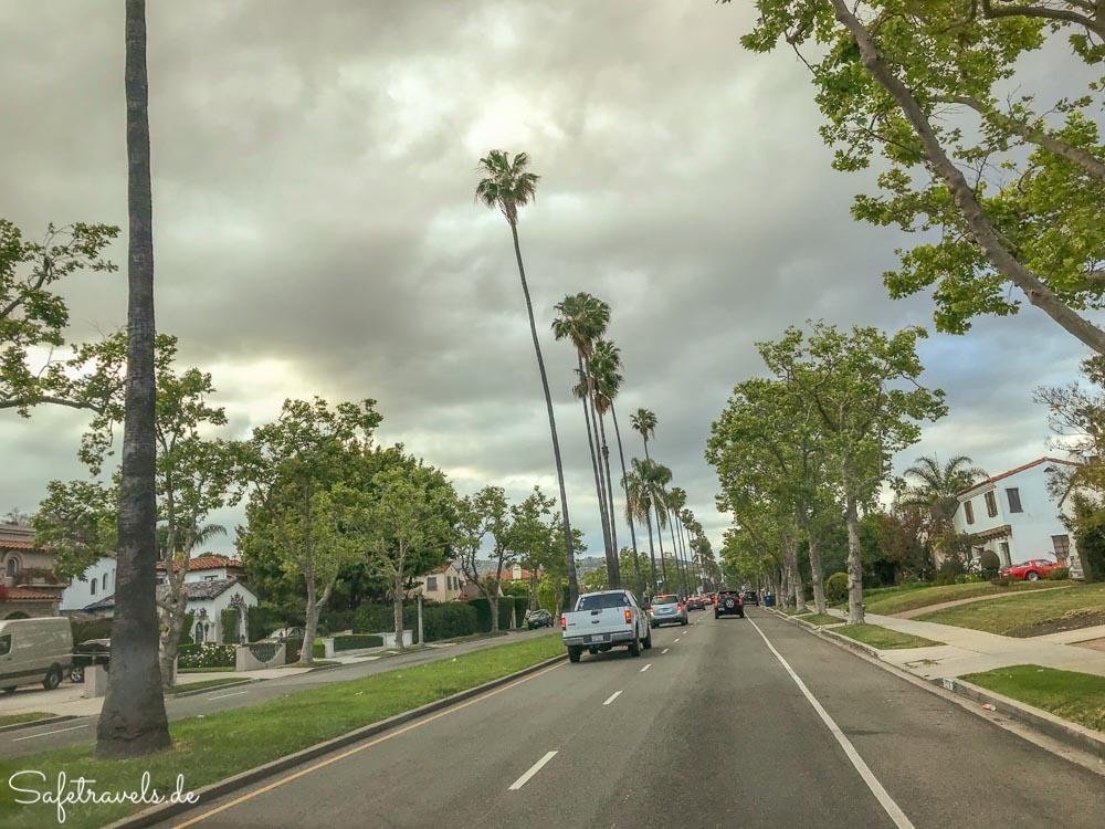 Typische Straße Beverly Hills