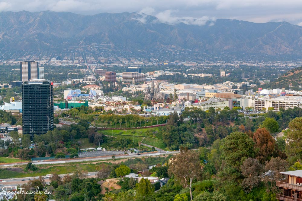 Universal City Overlook am Mulholland Drive