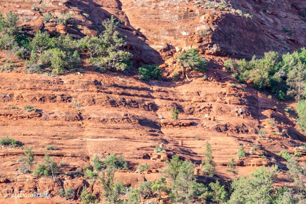 Cathedral Rock Trail - Wanderer im zweiten Abschnitt