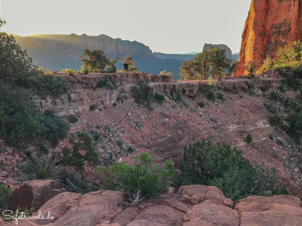 Cathedral Rock Trail - auf dem Felsgrat zwischen den Zinnen