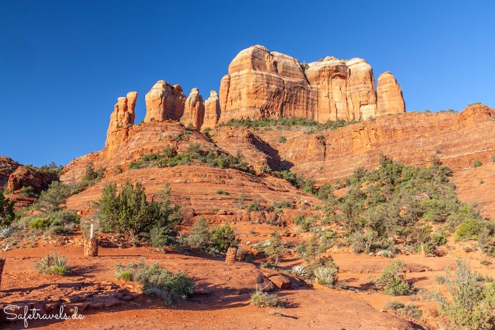 Cathedral Rock Trail - auf dem ersten Plateau beim Abstieg
