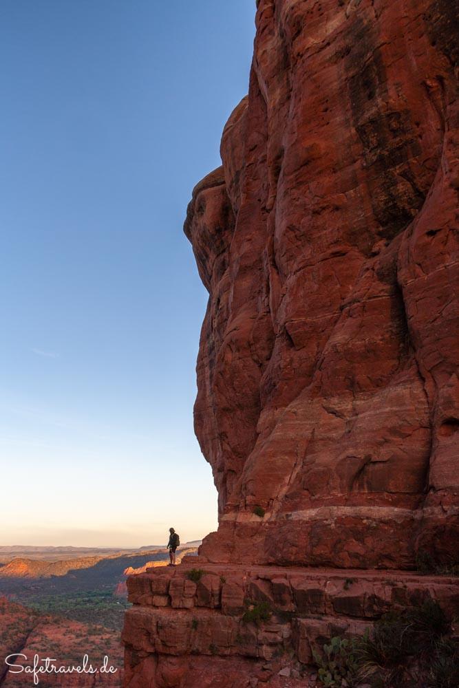 Cathedral Rock Trail - kurz bevor die Sonne aufgeht