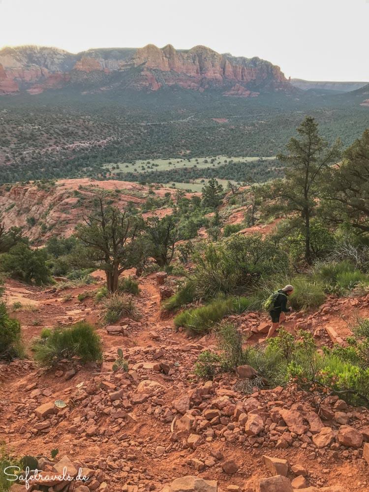 Cathedral Rock Trail - letzter Abschnitt