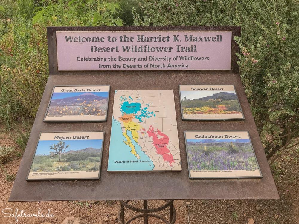 Desert Botanical Garden - Desert Wildflower Trail Schild