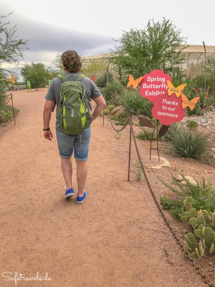 Desert Botanical Garden - Eingang zum Butterfly Pavillion