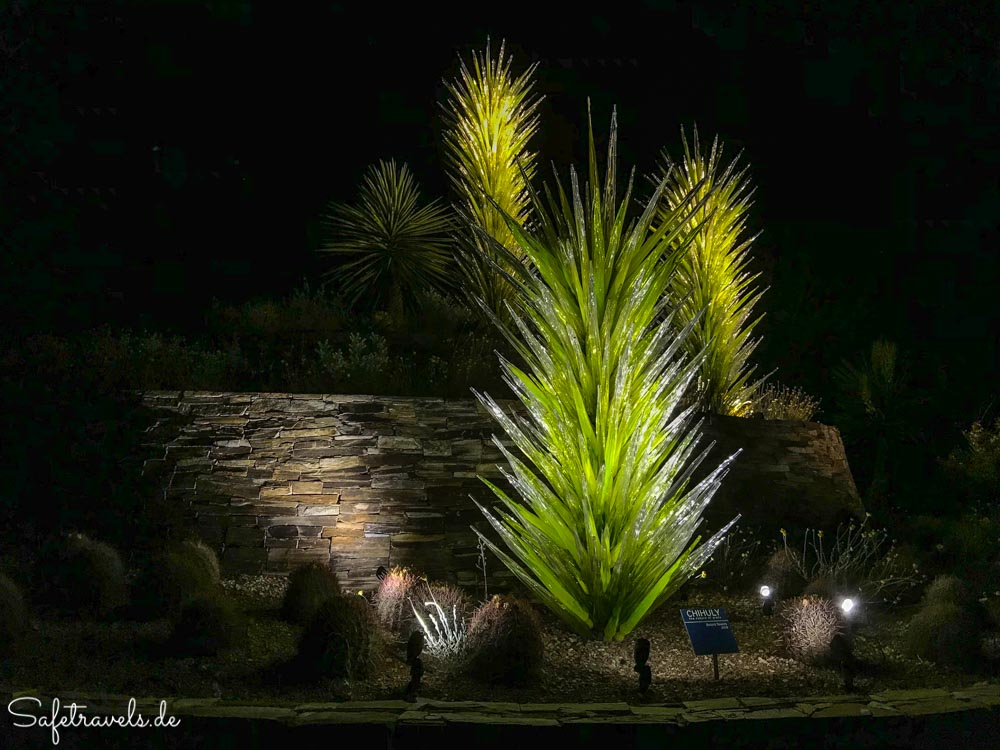 Desert Botanical Garden - Glasinstallation am Haupteingang
