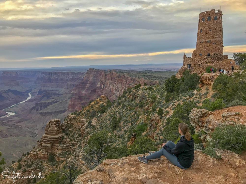 Die Aussicht genießen am Grand Canyon Desert View