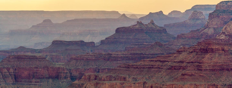 Grand Canyon South Rim Desert View Sonnenuntergang Blog Titel